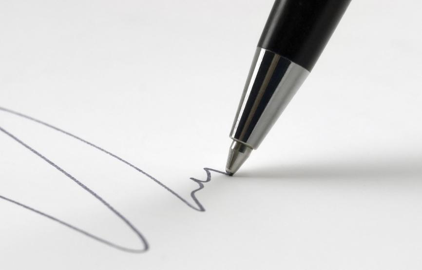 Kugelschreiberflecken